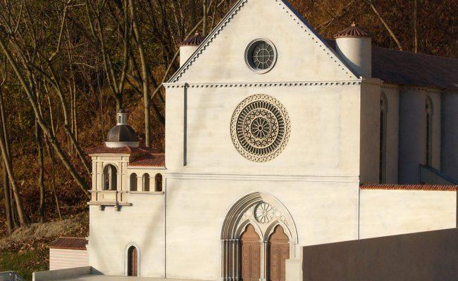 makieta Bazyliki Św. Franciszka w Asyżu brama frontowa ang