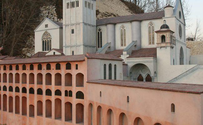 miniatura Bazyliki Św. Franciszka w Asyżu