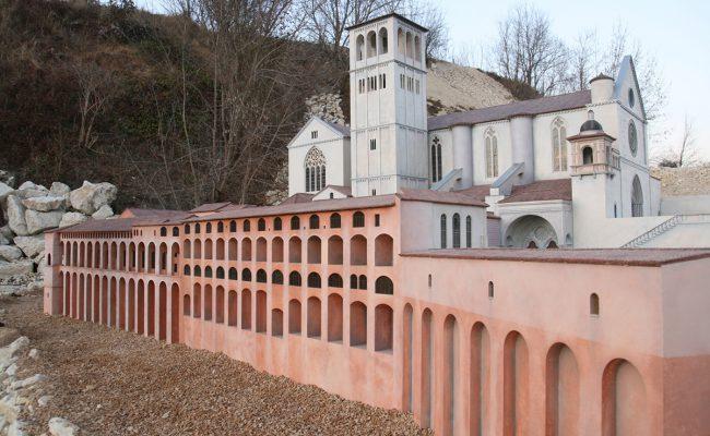 makieta Bazyliki Św. Franciszka z Asyżu klasztor  i dzwonnica