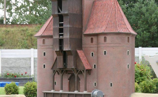 miniatura Żuraw Gdański ekspozycja całoroczna
