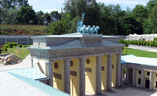 Brama Brandenburska w postaci makiety skala 1:25