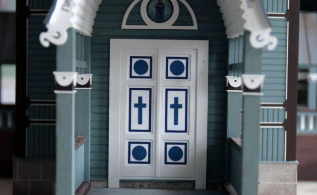 Cerkiew w Puchłach makieta wejście