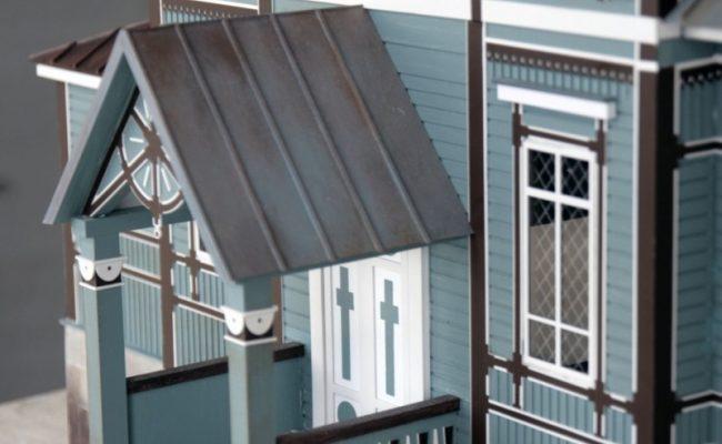 Cerkiew w Puchłach makieta detal okna
