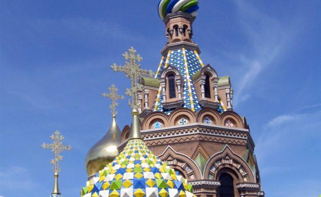 Makieta Cerkwi w w Sankt Petersburgu wieże