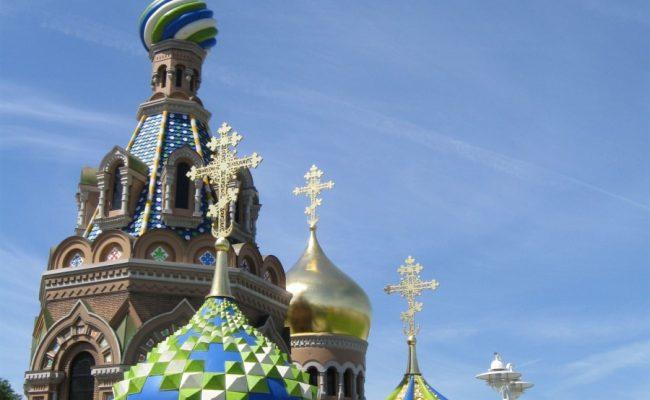 Makieta Cerkwi w w Sankt Petersburgu wieże z drugiej strony