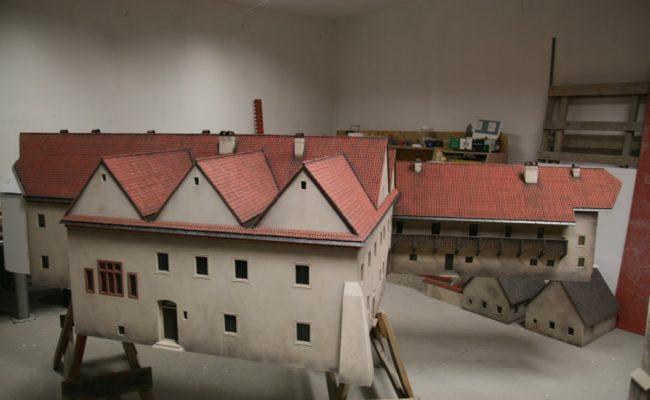 Czerwony Klasztor Makieta w pracowni