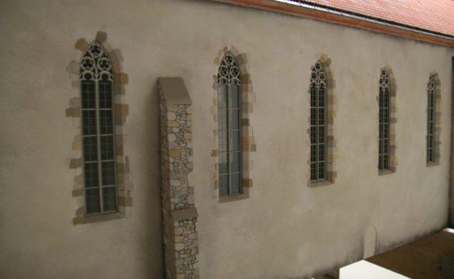 Czerwony Klasztor Makieta detal okienny
