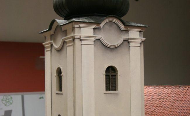 makieta Słowackiego Czerwonego Klasztoru dzwonnica