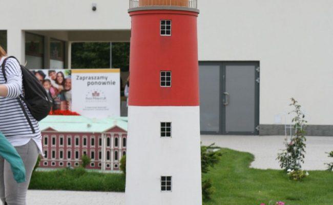 Makieta Latarni Bałtijsk w Bałtyckim Parku Miniatur
