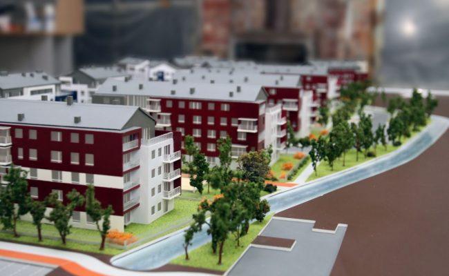 Osiedle domów wielorodzinnych w miniaturze