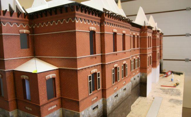 Pałac Carski z Białowieży makieta w trakcie prac