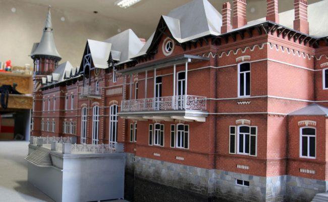 Pałac Carski z Białowieży makieta