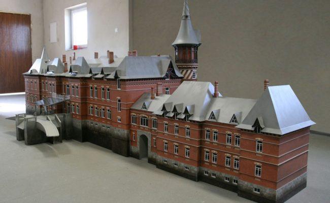 Pałac Carski z Białowieży rekonstrukcja w formie makiety