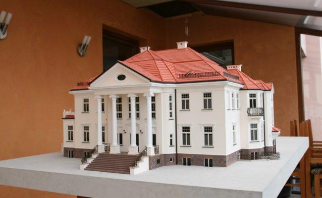 Rezydencja Pałacowa w Tłokinii makieta