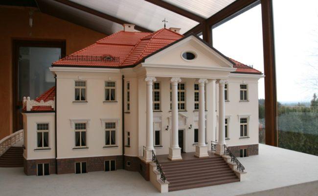 Pałac w Tłokinii elewacja frontowa makieta