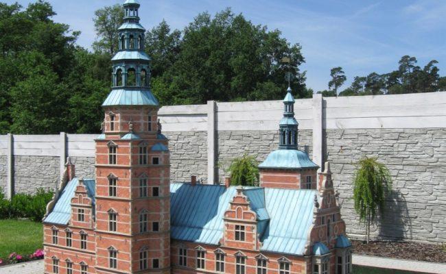 Makieta zamku Rosenborg skala 1:25 Park Miniatur Międzyzdroje