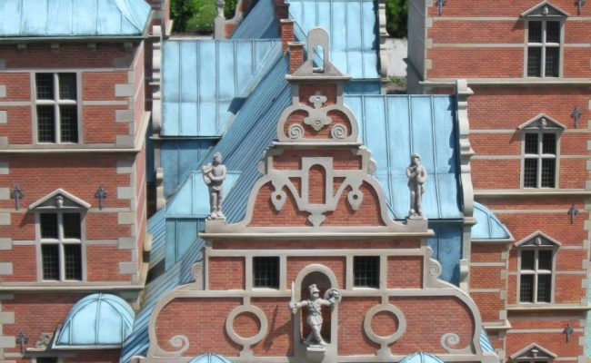 Makieta zamku Rosenborg detal architektoniczny