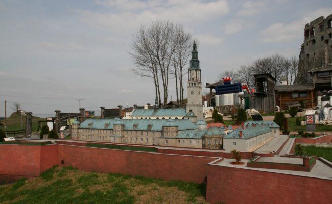 Twierdza Jasnogórska makieta w Parku Miniatur Ogrodzieniec