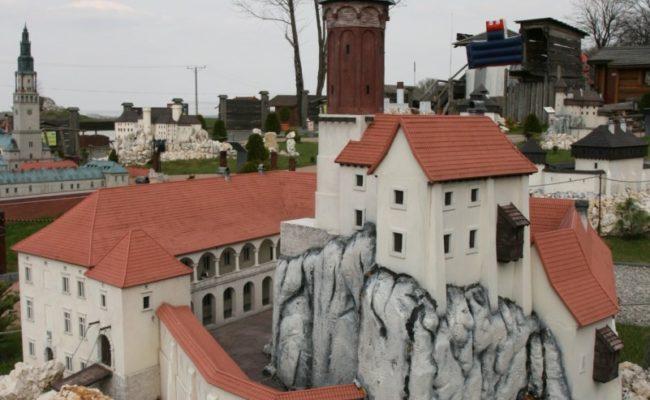 Zamek Rabsztyn makieta architektoniczna elewacja północna