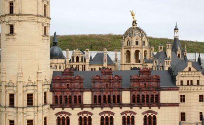 makieta zamku w Schwerin detal architektoniczny