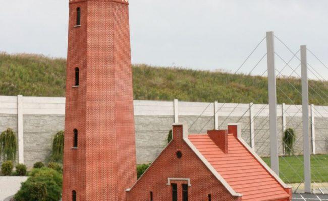 Makieta latarni Greinswalder Oie w Bałtyckim Parku Miniatur