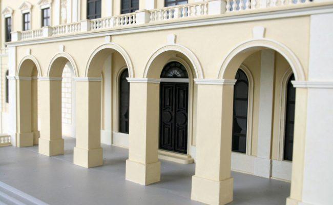 makieta Pałacu w Pilicy wejście główne
