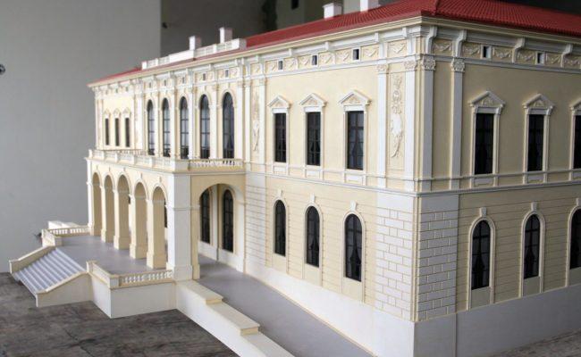 Pałac w Pilicy makieta podczas prac