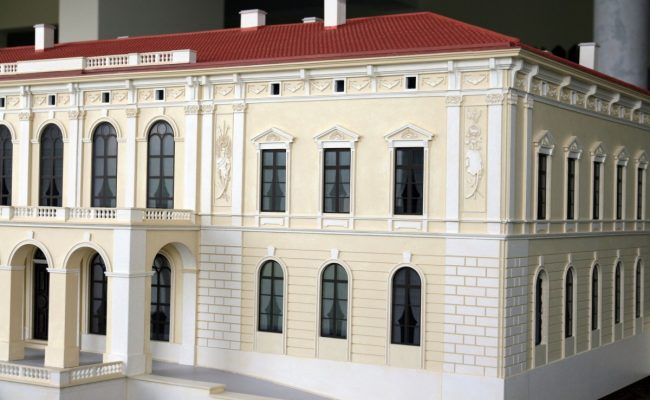 elewacja frontowa Pałacu w Pilicy makieta