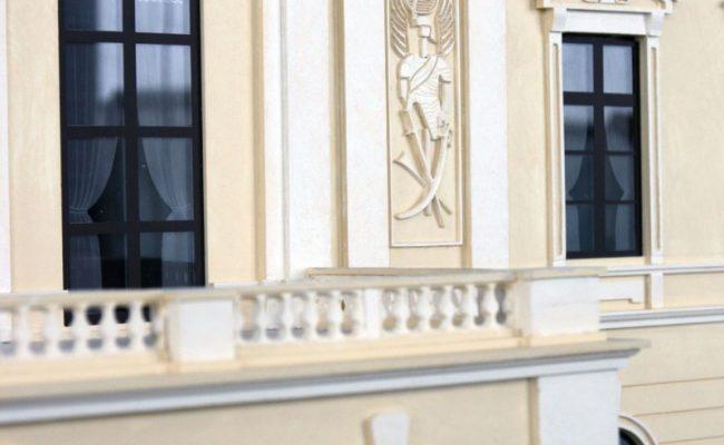Pałac w Pilicy makieta detal architektoniczny