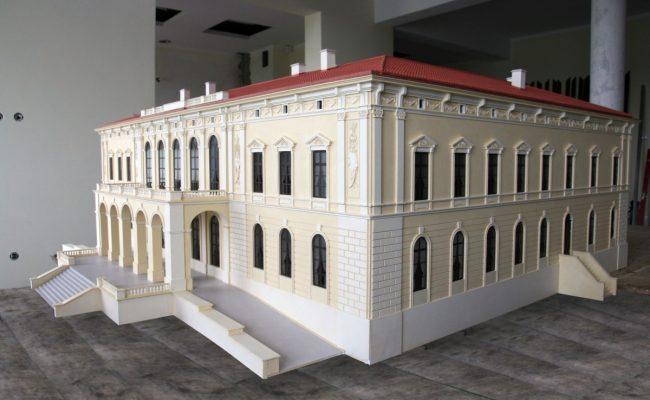 Pałac w Pilicy bryła makiety